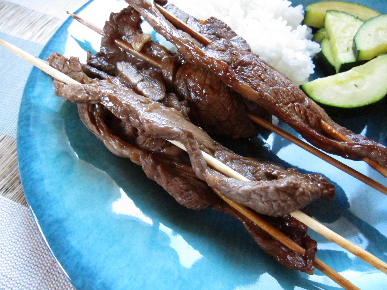 Asian Flank Steak Skewers (from Skinnytaste )