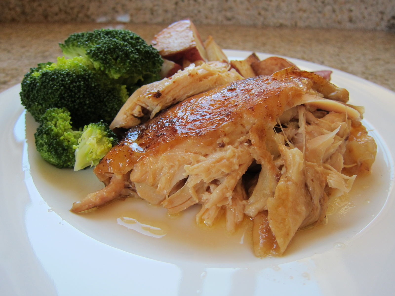 Slow Cooker Whole Roast Chicken | Saucy Mommy